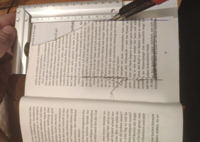 Cutting the middle of the book